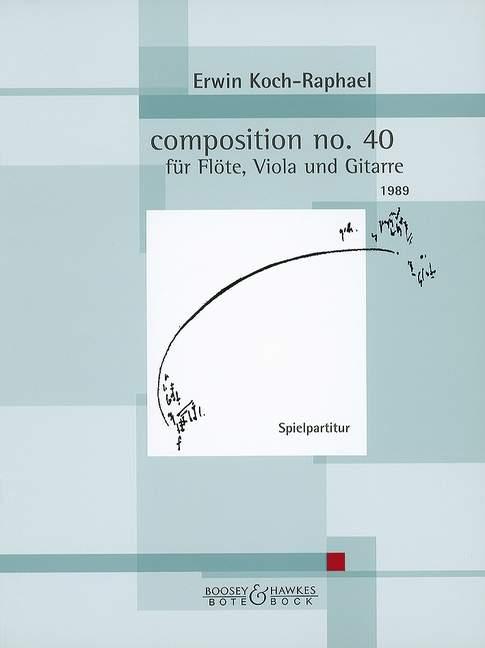 Composición no.40 Koch-Raphael, Erwin Erwin Erwin puntuación de rendimiento Flauta, púrpura y Guitarra a68479